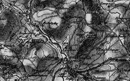 Old map of Yalland in 1898