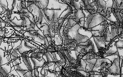 Old map of Luxulyan in 1895