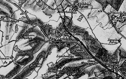 Old map of Wickham Bushes in 1895