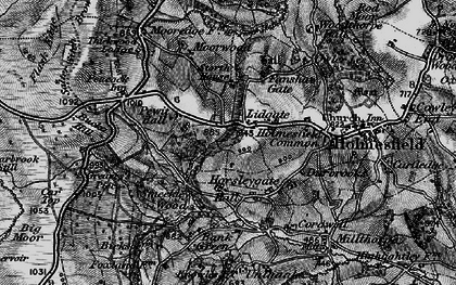 Old map of Lydgate in 1896