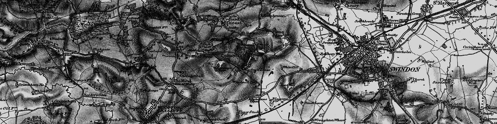 Old map of Lydiard Tregoze in 1898