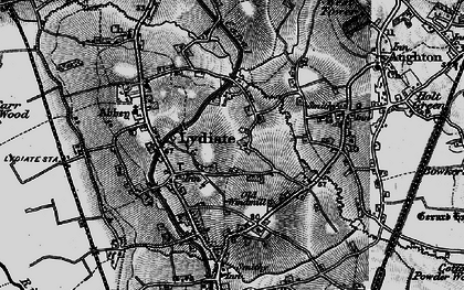 Old map of Lydiate in 1896