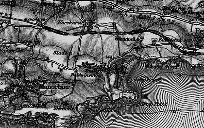 Old map of Lydstep in 1898
