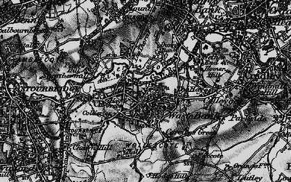 Old map of Lye in 1899