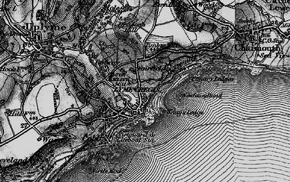 Old map of Lyme Regis in 1897