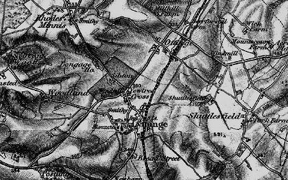 Old map of Lyminge in 1895