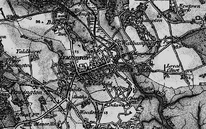 Old map of Lymington in 1895