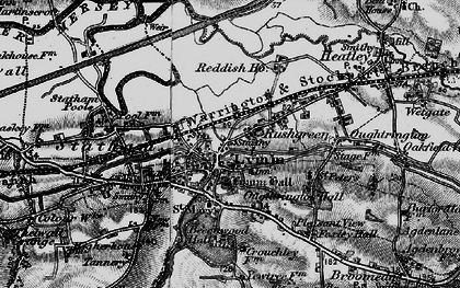 Old map of Lymm in 1896