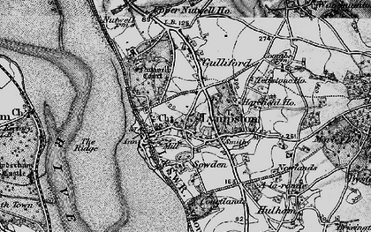 Old map of Lympstone in 1898