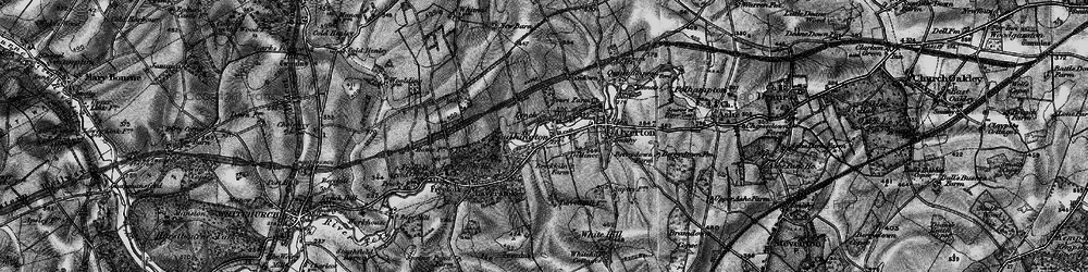 Old map of Laverstoke Ho in 1895