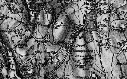Old map of Awnells in 1896