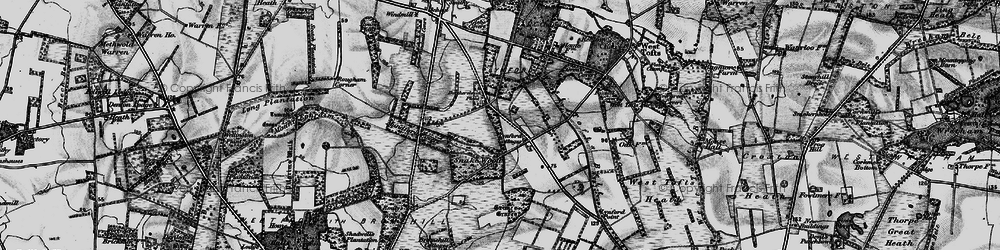 Old map of Lynford in 1898
