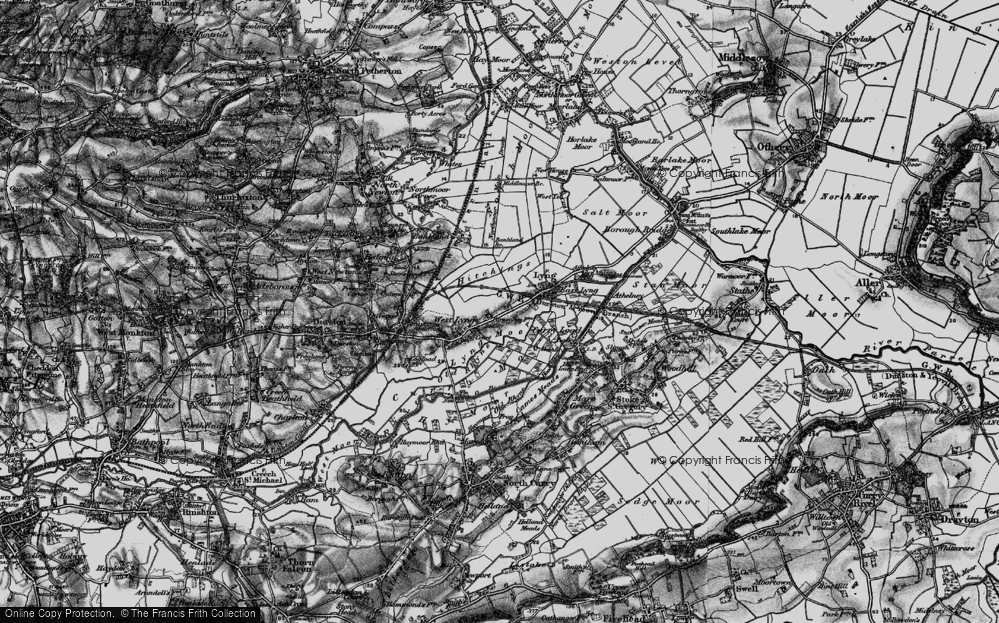 Old Map of Historic Map covering Bankland Br in 1898