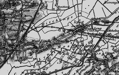 Old map of Bankland Br in 1898