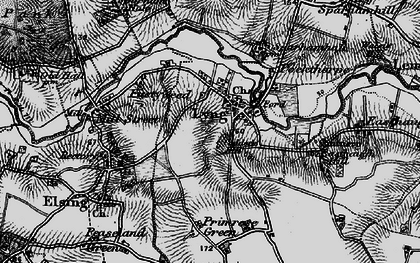 Old map of Lyng in 1898