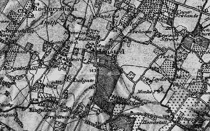 Old map of Aymers in 1895
