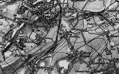 Old map of Lyonshall in 1899