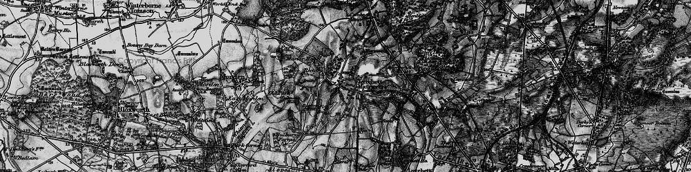 Old map of Lytchett Matravers in 1895