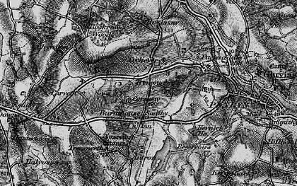 Old map of Mabe Burnthouse in 1895