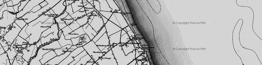 Old map of Mablethorpe in 1898