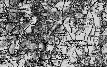 Old map of Lanelands in 1895