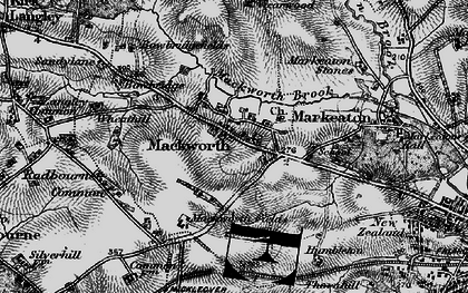 Old map of Mackworth in 1895