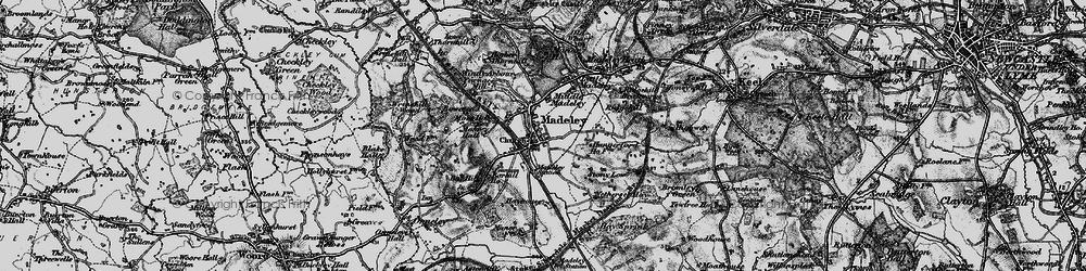 Old map of Madeley in 1897