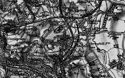 Old map of Madeley in 1899