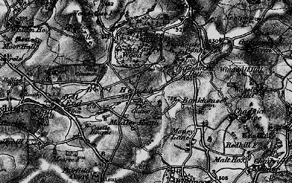 Old map of Madeley Heath in 1899