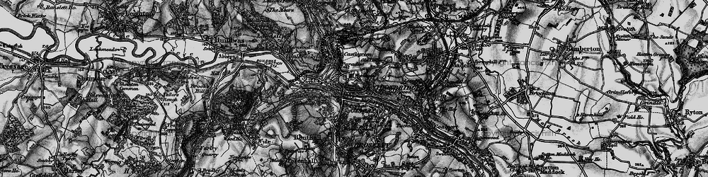 Old map of Madeleywood in 1899