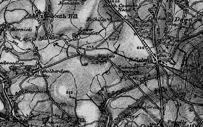 Old map of Maders in 1896