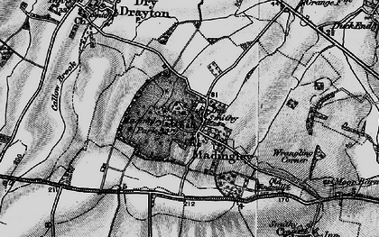 Old map of Madingley in 1898