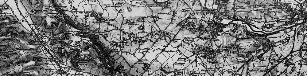 Old map of Madley in 1898