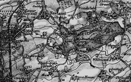 Old map of Madresfield in 1898