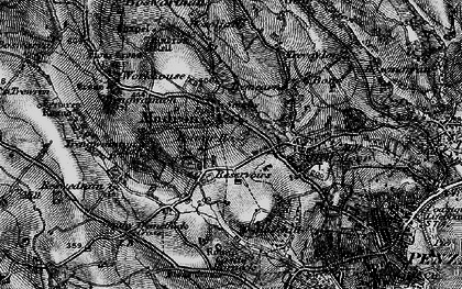 Old map of Trengwainton Ho in 1895