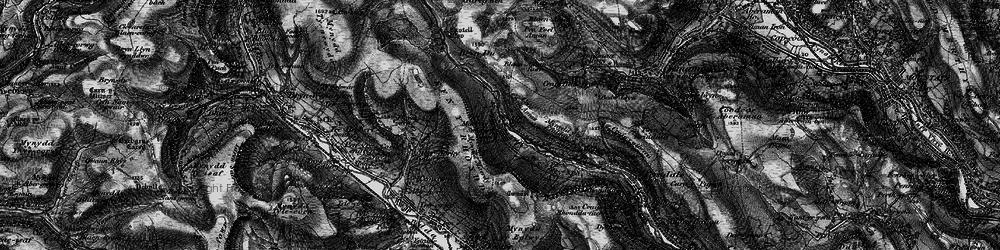 Old map of Afon Rhondda Fach in 1898