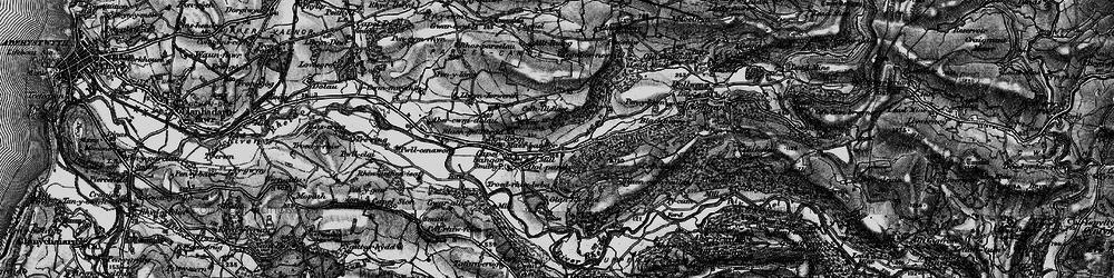 Old map of Allt y Gwreiddyn in 1899