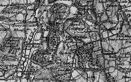 Old map of Tir-y-coed in 1897