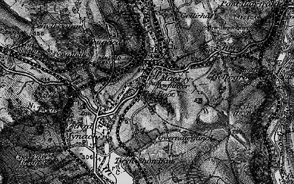 Old map of Maesycwmmer in 1897