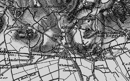 Old map of Magor in 1897