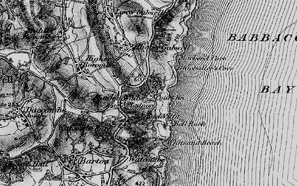 Old map of Maidencombe in 1898