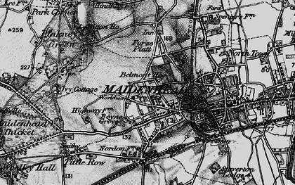 Old map of Maidenhead in 1895