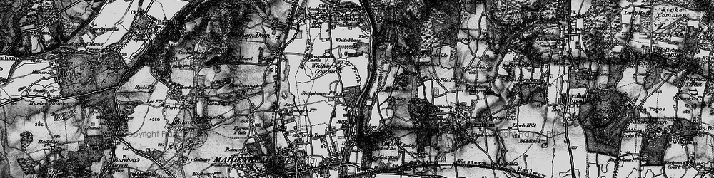 Old map of White Brook in 1895