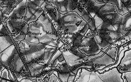 Old map of Maids' Moreton in 1896