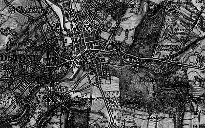 Old map of Maidstone in 1895