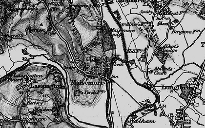 Old map of Abbot's Lodge in 1896