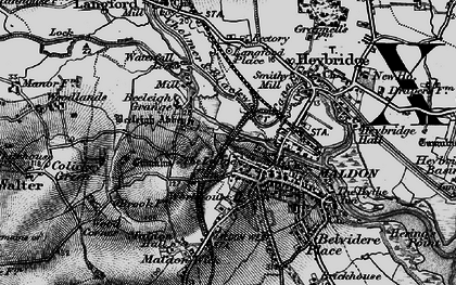 Old map of Maldon in 1896
