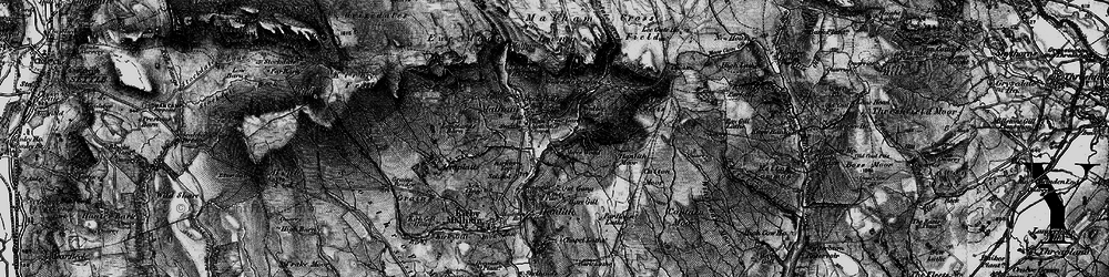 Old map of Malham in 1898