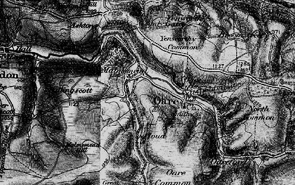 Old map of Badgworthy Lees in 1898