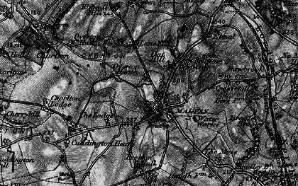 Old map of Malpas in 1897